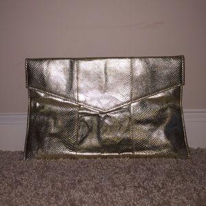 GOLD envelope clutch <Vintage>