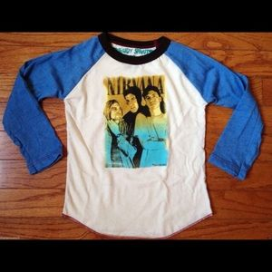 Rowdy Sprout Other - Rowdy Sprout Nirvana Kids Raglan