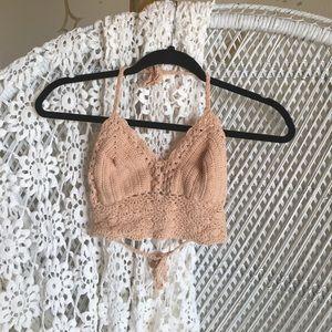 Tops - Nude crochet top