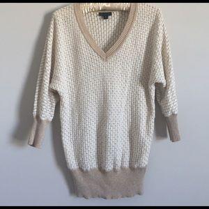 Worthington Sweaters - Worthington Cream and Tan with Sparkle Sweater