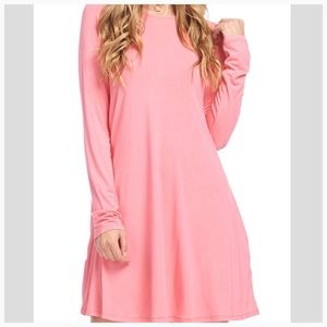 Dresses & Skirts - HP!!! Bamboo Long Sleeve Dress with Pocket