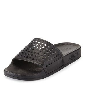 NEW Loeffler Randall Perforated Slide Never Used