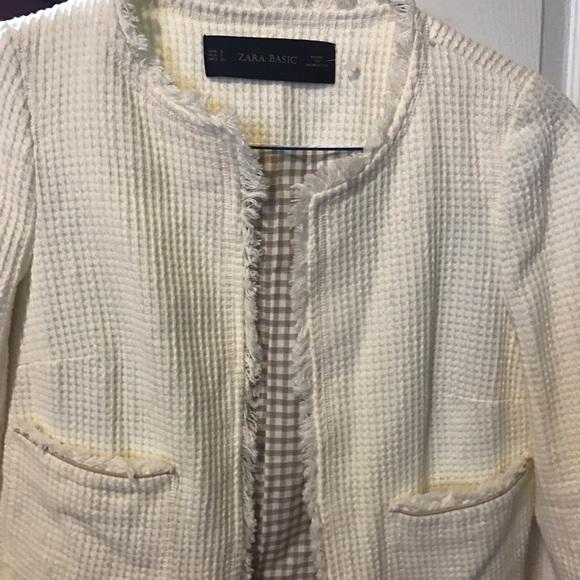 Zara - Zara cream tweed jacket from Margaret's closet on Poshmark