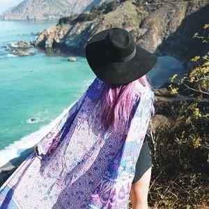 Jackets & Blazers - Floral Bohemian Kimono Duster