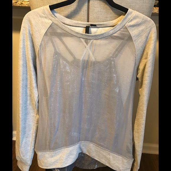 Tops - Ayrn K Shirt. Silver mesh front with silver Cami.