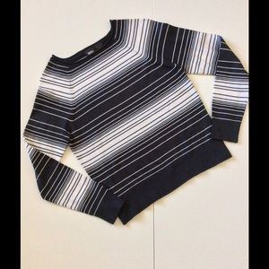 Mossimo Sweaters - Black & White Striped Sweater