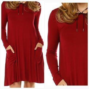 Dresses & Skirts - Host Pick 2/14! ❤️ Burgundy Pocket Dress