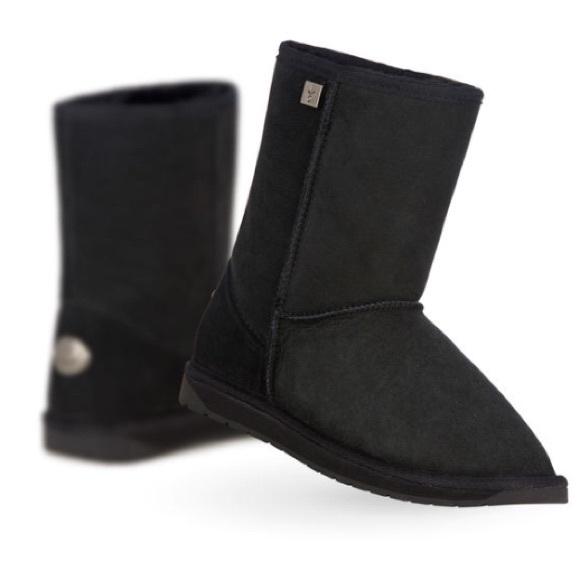 90cf08278cb Emu Shoes | Black Platinum Boots | Poshmark