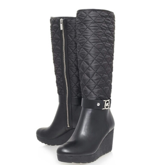 390173575 Michael Kors Aaran Tall Quilted Wedge Boots 7.5. M_586983bf6d64bcbe9c01ad72