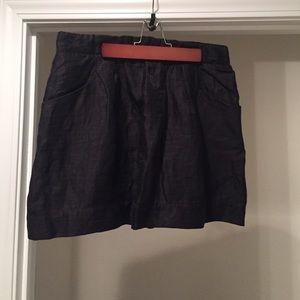 J. Crew Lined Linen Mini Skirt