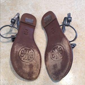031637299250 Tory Burch Shoes - Tory Burch Bryn Pave Bow Flat Thong