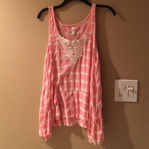 Jessica Simpson Tops - NWT Stripe lace top