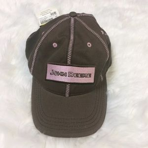 John Deere Accessories - NWT Women's John Deere Baseball Cap Brown Pink OS