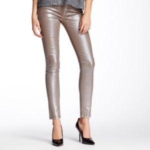 James Jeans Denim - Like New James Metallic 'Twiggy' Jeans/Leggings 28