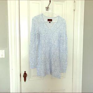 Absolutely Sweaters - Light blue tunic sweater, stitch fix