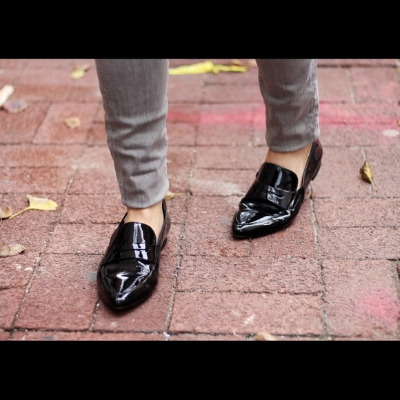 offer discounts good quality hot new products Paul Green black patent leather loafers