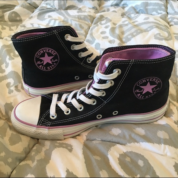 277e0cc762cd56 Converse Shoes - Converse High Tops Double Layered - Lilac
