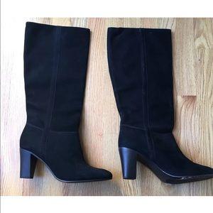 LL Bean Tall Black Suede Boots