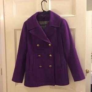Purple Jcrew Coat