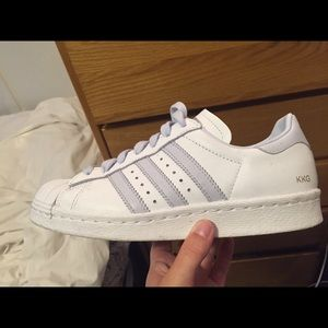 Adidas Shoes - Light Blue and White Superstar Adidas