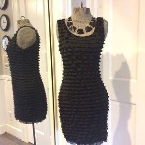 Forever 21 Dresses & Skirts - Black Ruffled Bodycon Dress