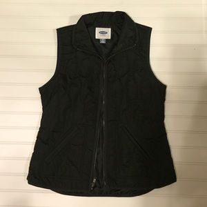XS black quilted vest Old Navy