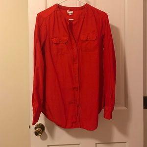 Merona red Swiss dot blouse