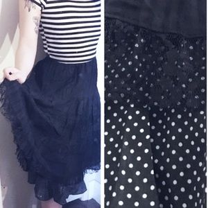 Lace and Polka Dot Skirt