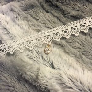 For Love and Lemons Jewelry - Lace and diamond choker