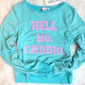 Wildfox Sweaters - NWT Wildfox Hell No Cardio Baggy Beach Jumper