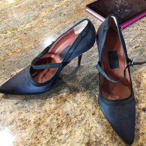 Lanvin Shoes - Black satin Lanvin maryjane heels sz 40