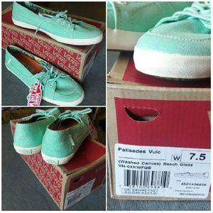 74889f897c1b5b Vans Shoes - VANS Palisades Vulc Washed Canvas Beach Glass