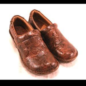 BOC Shoes - BOC Scrolled Dark Brown Clogs