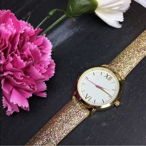 LAST 1!✨ Glitter watch gold pink sparkle girly