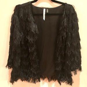 NY Collection Jackets & Blazers - Black Fringe Jacket (Macy's/NY Collection)