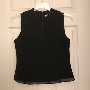 Ann Taylor Loft black formal sleeveless top sz 6