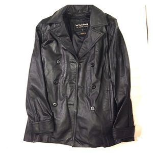 Wilsons Leather Jackets & Blazers - Wilsons genuine leather peacoat lined Small