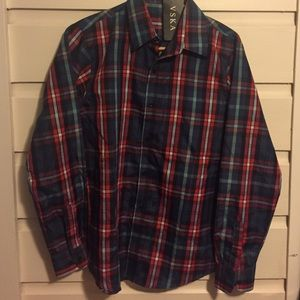 🍾NWT Boys Tartan Plaid Shirt. Size Large.