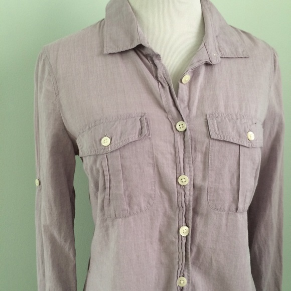 98% off J. Crew Factory Tops - J. CREW Light purple Button down ...