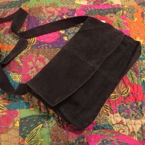 NWT sueded leather bag