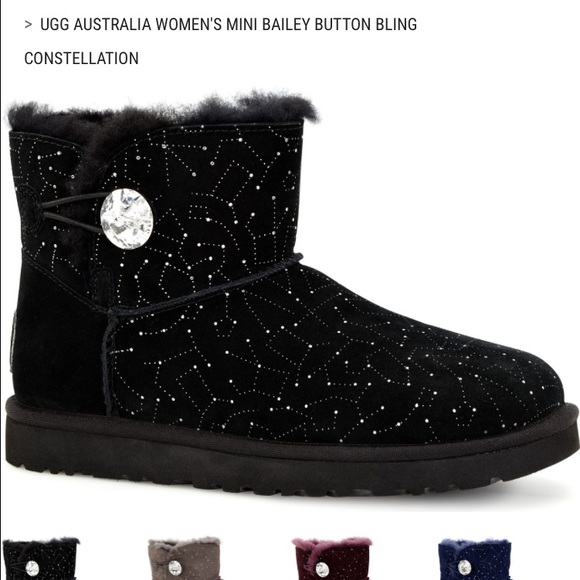 ec718917304 Ugg Mini Bailey Button Bling Constellation