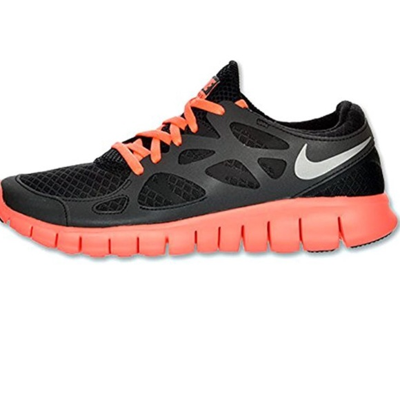 wholesale dealer c1782 dbe4e NIKE Free Run 2 Reflective Black/Mango 🏃🏾 Shoes