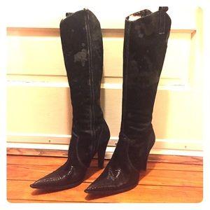 Black Luichiny Knee High Boots, Sz 7