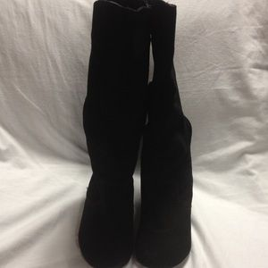 [Sam and Libby] Black microfiber suede boots 7 1/2