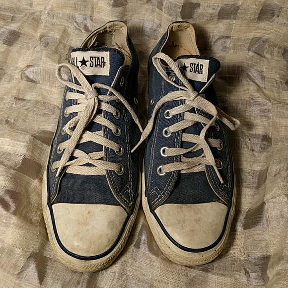 Original Old Blue Converse Chuck Taylor Low Tops