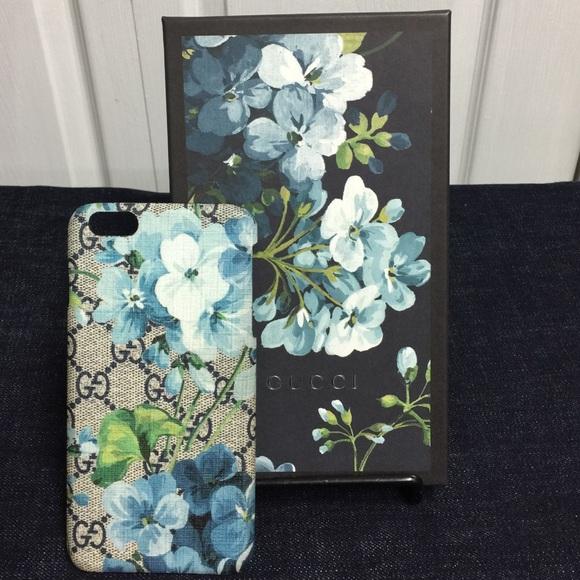 a784565e07b0e AUTHENTIC Gucci GG bloom iPhone 6plus phone case