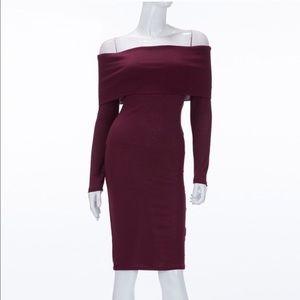 Dresses & Skirts - 🔥Off Shoulder Folded Tube Midi Dress🔥