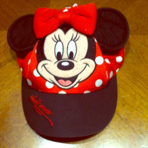 2287bc32 Disney Accessories | Vintage Girls Minnie Mouse Hat Toddler | Poshmark
