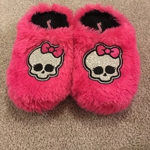 monster high Other - 💕Monster high 13/1 medium glitter skull slippers