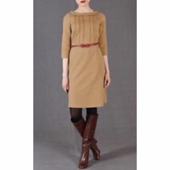 Camel color knit dress